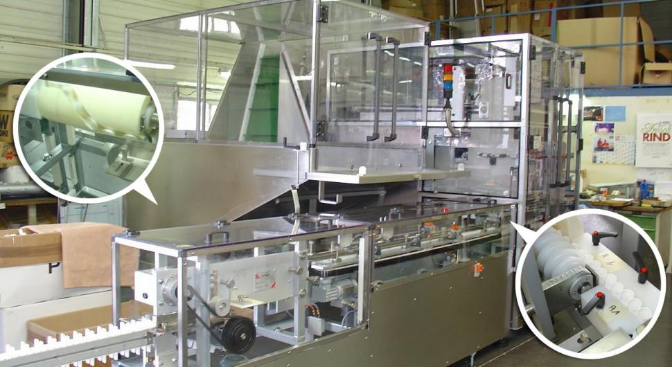 Sortierung, Ausrichtung und Handling von Röhrchen für die Pharmaindustrie.