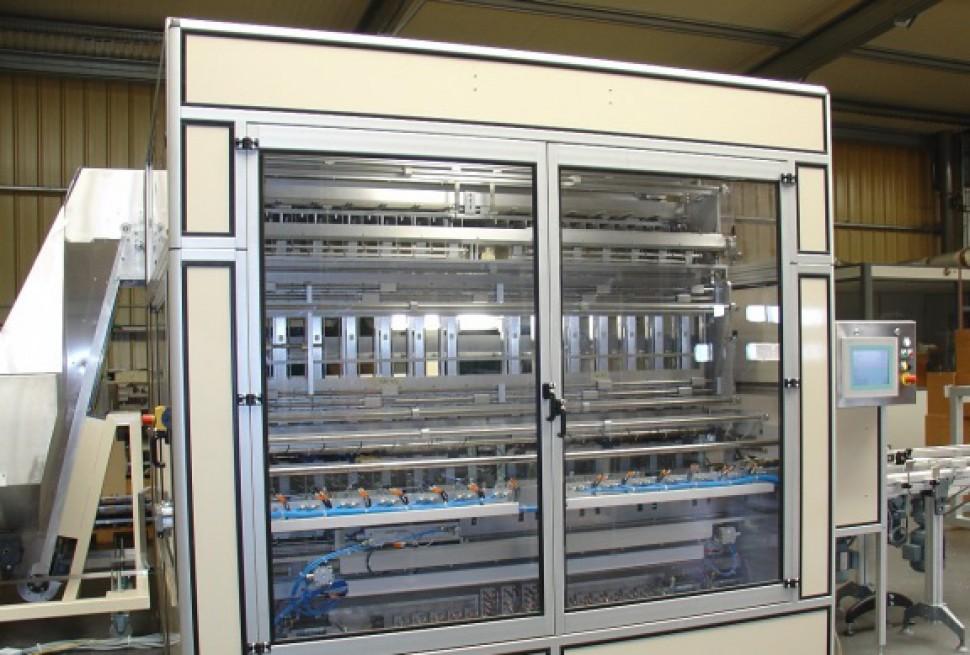 BCM 2000 mit gemischter Lösung Vakuumband und Transportbecher 140 UMP